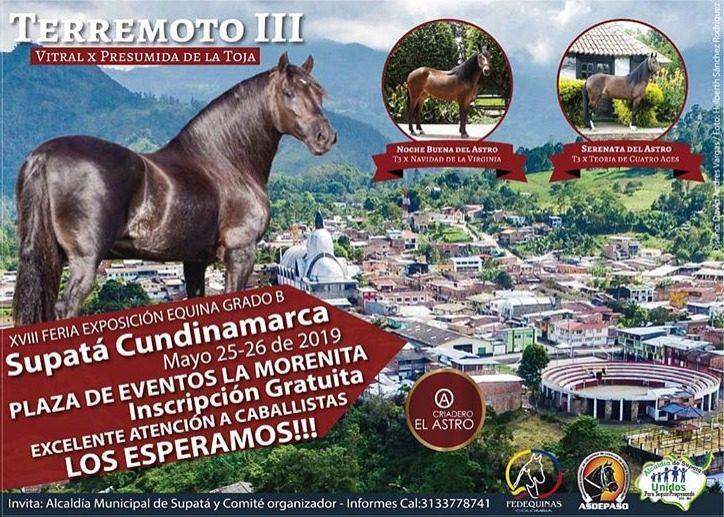 Toda la comunidad caballista está súper invitada a esta gran Feria en su versión XVIII en Supata, los próximos 25 y 26 de Mayo de 2019.